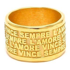 Milor 18k gold cigar band ring